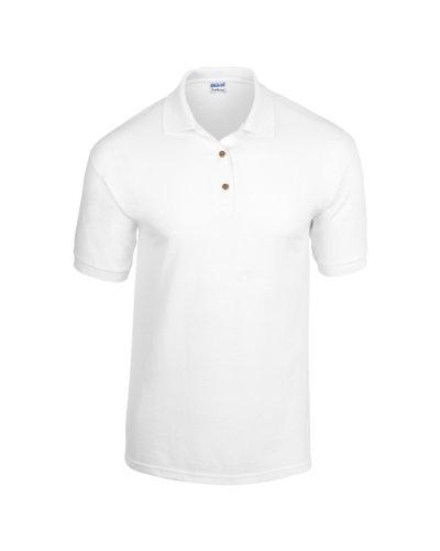 Gildan Kinder Dryblend Jersey Knit Polo Weiß