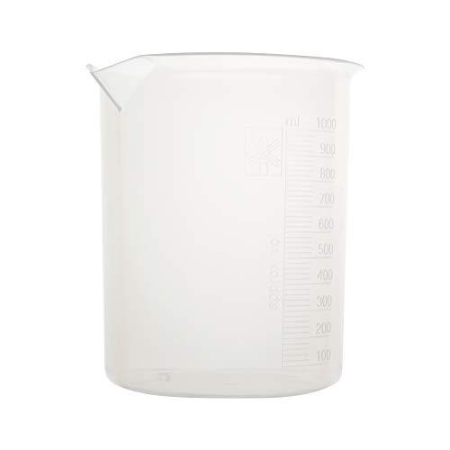 Astik'S BKLP-1K0-006 Schnapsglas aus Polypropylen, geprägt, 1000 ml