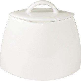 Lumina Fine China CD654Oval Zuckerdose mit Deckel, weiß (6Stück) China Sugar Bowl
