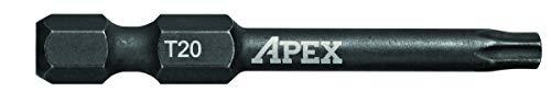 APEX AMB2TX20-2 Ind. 2 Torx Power Drive T20 2PK -