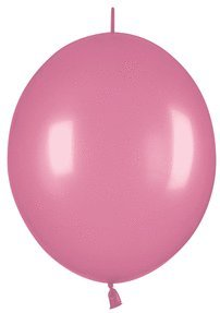 Mayflower Balloons 30620 Link-O-Loon 12 Inch Pearlized rosa Packung mit 25 St-ck
