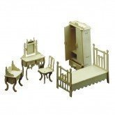 dolls-house-wooden-bedroom-furniture-kit-1-12-scale-tab-slot-method-age-6-