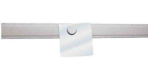 Maul 6205002 Ferroleiste 100 x 5 cm (LxB), Informationsleiste Stahl, Profiliert, Weiß, 1 Stück