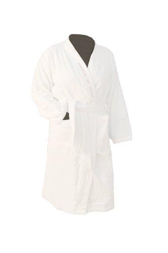 Preisvergleich Produktbild EOS Sauna Bademantel mit gesticktem Saunaslogan Gr. XXL weiß