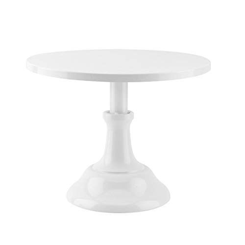 10/12 inch Grand Baker Cake Stand Wedding Cake Tools Adjustable Height Fondant Cake Display Accessory for Party bakeware (White, 10inch)
