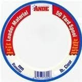 ANDE S50-250 C Premium Monofilament Leader Coil, 50-Yard Spule, 250-pound Test, Klar Finish -