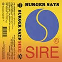 Burger Says Sire (Sire Records Compilation) (Csd) [Musikkassette]