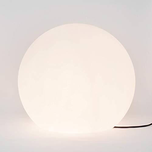 Lampe de table (en blanc, hauteur 70 cm, forme de boule, teinté 2 ampoules) Lampe d'extérieur Ball Luminaire Lampe Lampe de table