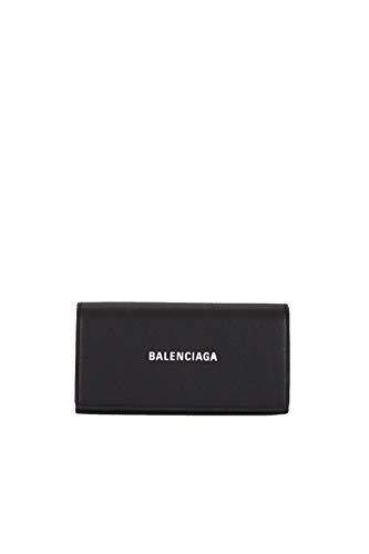Balenciaga Damen 555709Dlq4n1000 Schwarz Leder Brieftaschen