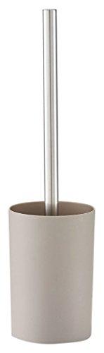 zeller18803–Escobilla de inodoro, plástico, plástico, pardo, 10.5 x 7.5 x 16 cm