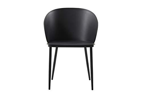 Homemania Stuhl Dalis, 2 Stück, Schwarz aus Polypropylen und Metall, für Büro, Wohnzimmer, Esszimmer, Küche, Schlafzimmer, Letto-Tavolo, L55xP56xA80,5 cm - 2 Stück Metall-stuhl