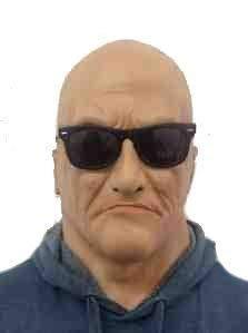 Realistische Alter Mann Maske mit brillen Latex Türsteher/Bruiser 'The Rubber Plantation tm'
