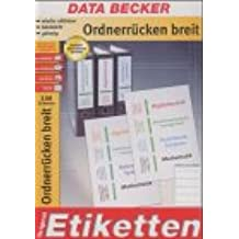 Data Becker Original de papel, etiquetas para archivadores