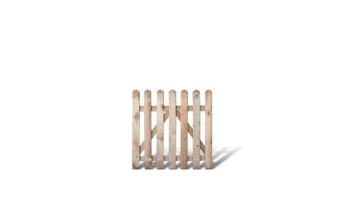 Garten-fries (Klassisches Gartenzaun + Friesenzaun Zauntor günstig Maß 100 x 100 cm (Breite x Höhe) aus Kiefer / Fichte Holz, druckimprägniert + genagelt)