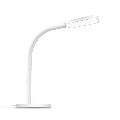 Lampada da tavolo led, Yee Light Touch tasto lampade da tavolo con Porta USB, 5Livelli di illuminazione di colore con 5Livelli di Luminosità, dimmerabile pieghevole flessibile Cura degli occhi lampada da scrivania, lampada da lettura, Bianco