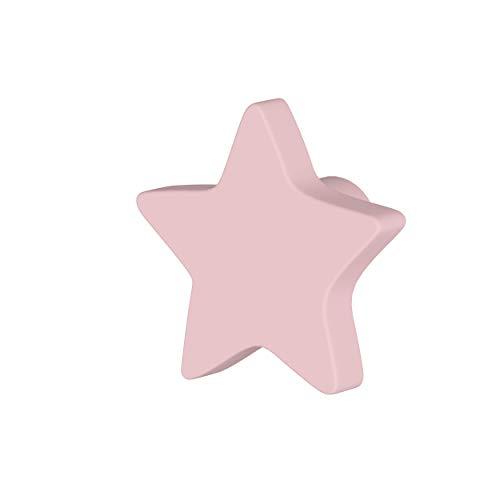 Greca Pomos Estrella lacados. 6 Unidades. Tiradores Infantiles lacados Mate