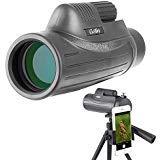 Gosky 12x50 Monocular Telescope - BAK4 Prism FMC Lens, for Birding Travelling Wildlife