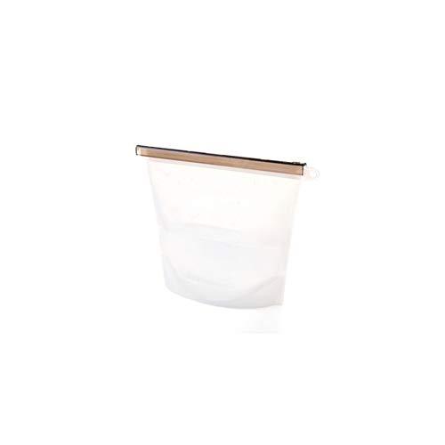 1000ML Silikon Frischhaltung Tasche Vakuum Versiegelte Tasche Wiederverwendbare Gefrierschrank Lebensmittel Tasche -