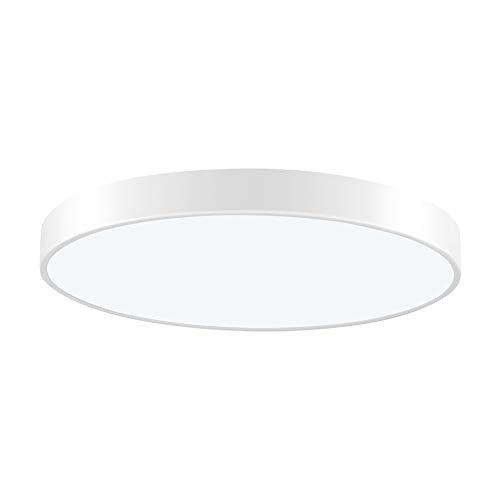 LED Deckenleuchte Dimmbar mit Fernbedienung, 36W Deckenlampe Wohnzimmerlampe Deckenbeleuchtung, Ultraslim Deckenleuchten Deckenstrahler Bürodeckenleuchte, Ø50cm, 150° Abstrahlwinkel