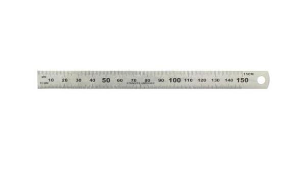 Stahllineal von 15 cm bis 150 cm wiederstandsfähige und gut ablesbare Lineare