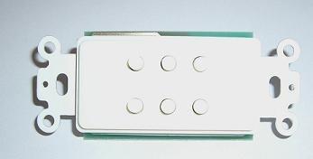 Phoenix Gold HJRS-WHT, 6 Zonen Schalter benötigt RM 6, weiss -