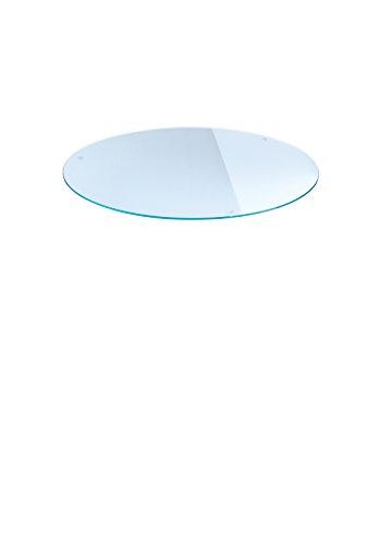 Plateau en verre rond, diamètre 60 cm