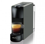 Cafetera Nespresso ESSENZA MINI Gris intenso. Depósito de agua extraíble: 0.6 l. Presión: 19 bar Bars. Apagado automático después de 9 min (programable).