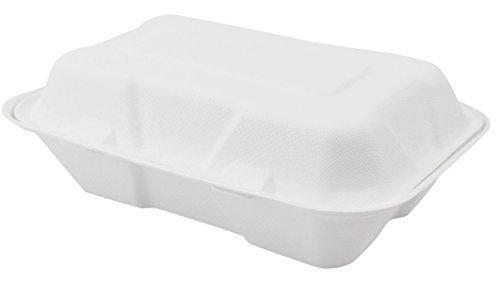 Clamshell Box Container to go, sich Lebensmittel Restaurant Scharnieren Fall Einweg-Boxen 100Zählen, 6