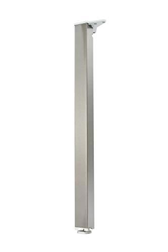 durante Tischbein Edelstahl Optik eckig 50x50mm H 1100mm sehr stabil - Quadratische Metall-tischbeine
