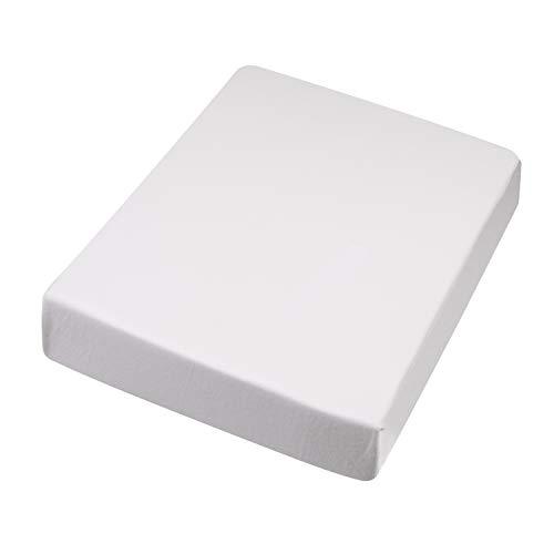 B&N Hochwertiges Spannbetttuch 180x200-200x220 cm I Spann-Bettlaken I Laken I für Boxspring-Betten und Wasserbetten I Steghöhe bis 30 cm I Farbe Weiß