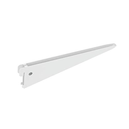 1 ranura Toolerando Perfil cremallera perforaci/ón simple para escuadras de estante//Riel de pared para soportes de estantes Longitud: 150 cm blanco