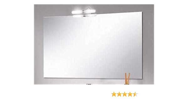 specchiera specchio bagno misure da 80x60 con applique