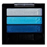 Manhattan Perfect Eyes Eyeshadow Trio Lidschatten Nr. Pool Party 101B, 78K, 87Z Farbe: Grau, Türkis, Blau mit Glanz Augen-Make-Up trocken oder feucht auftragbar mit Vitamine E zur Pflege der Haut.