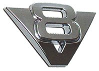all-ride-36427-logo-chrome-v8-autocollant