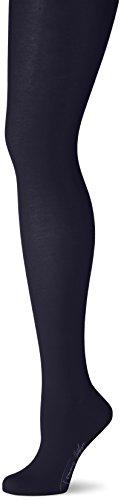 Tommy Hilfiger Damen Strumpfhose TH Women Soft Cotton Tights, Blau (Midnight Blue 563), Large (Elegance Strumpfhose)