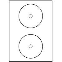 200 CD-ETIKETTEN 117MM WIE ZWECKFORM L7676-100 KINGSIZE
