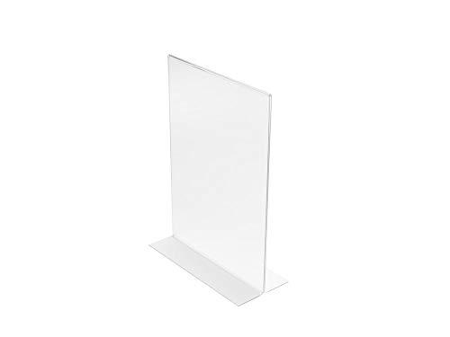 Porta-avvisi con base a T Deflecto - A4-21x9,3x30,5 cm - 47801