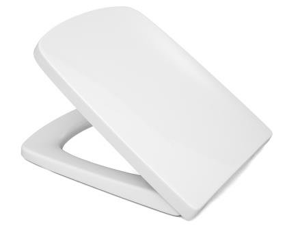 Cedo WC Sitz Boston Beach in weiß mit Absenkautomatik Softclose Classic®, abnehmbar mit Takeoff Original® Abnahmefunktion; aus Duroplast für Eckige Keramiken mit Befestigung