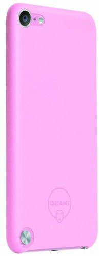 Ozaki O!Coat 0.4 Solid Schutzhülle für Apple iPod touch 5G in pink [Ultra dünn | Extrem leicht | Inkl. Displayschutzfolie | Kompatibel mit Handschlaufe] - OC611PK - Handschlaufe Ipod 5 Touch