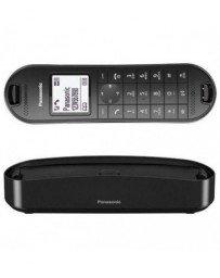 Panasonic KX-TGK310 - Teléfono Inalámbrico Digital de Diseño (LCD, Identificador de Llamadas, Agenda de 120 Números, Bloqueo de Llamada, Modo ECO Plus) Color Negro