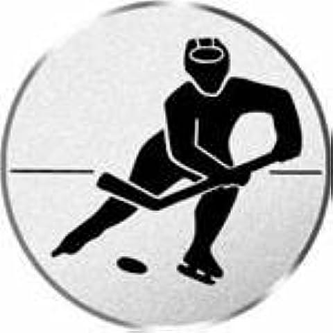 La copa/medalla de logotipo, diseño de hockey sobre hielo, diámetro de 50 mm de diámetro plata