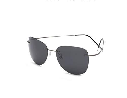 Tl-sunglasses 100% di titanio silhouette occhiali da sole polaroid super leggero uomini senza montatura di occhiali da sole polaroid occhiali polarizzati,titanio zp2117 c1