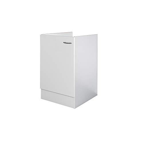Flex-Well Spülenunterschrank UNNA | Spülenschrank ohne Arbeitplatte | Breite 50 cm | Weiß
