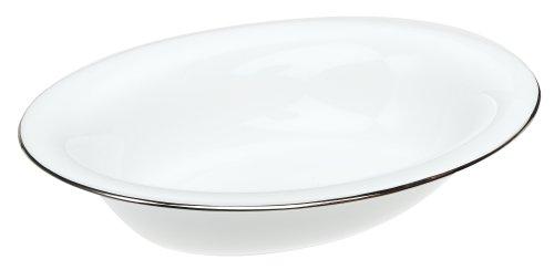 Wedgwood Servierplatte aus feinem Porzellan Gemüseschale, oval, Platin, offen, 24,8 cm 9.75 weiß China Oval Vegetable Bowl