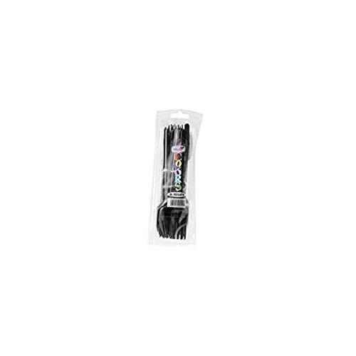 Doplà Fourchettes de Plastique Noirs à Usage Unique 20pz