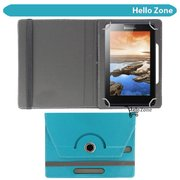 "Hello Zone 360° Rotating 7"" Inch Flip Case Cover Book Cover for Swingtel Hello Tab -Sky Blue  available at amazon for Rs.285"