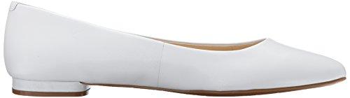 Nine West Onlee Femmes Cuir Chaussure Plate white