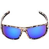 Zantec Sport Sonnenbrille im Freien mit Camouflage Frame Brille für die Fischerei der Männer der Navigation für Plaisance rot
