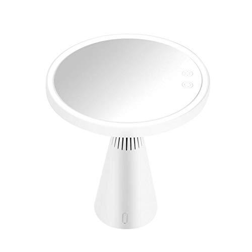 HXUJ Multifunktionale LED Kosmetikspiegel Touchscreen Bluetooth Audio Tischlampe Vergrößerungsspiegel 5X 3 Licht einstellbar -