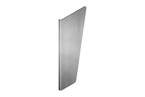 Urinal Trennwand Schamwand WC Trennwände wandhängend 900 mm x 450 mm • 3mm Edelstahl V2A